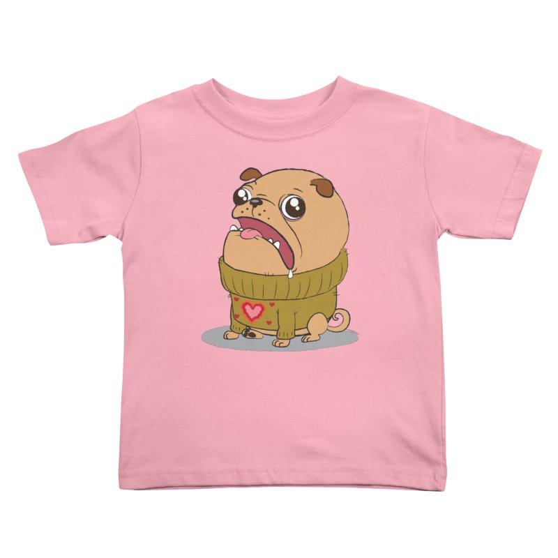 Pugly Sweater Kids Toddler T-Shirt by SJdzyn's Artist Shop