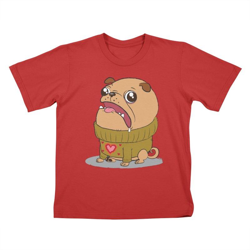 Pugly Sweater Kids T-Shirt by SJdzyn's Artist Shop