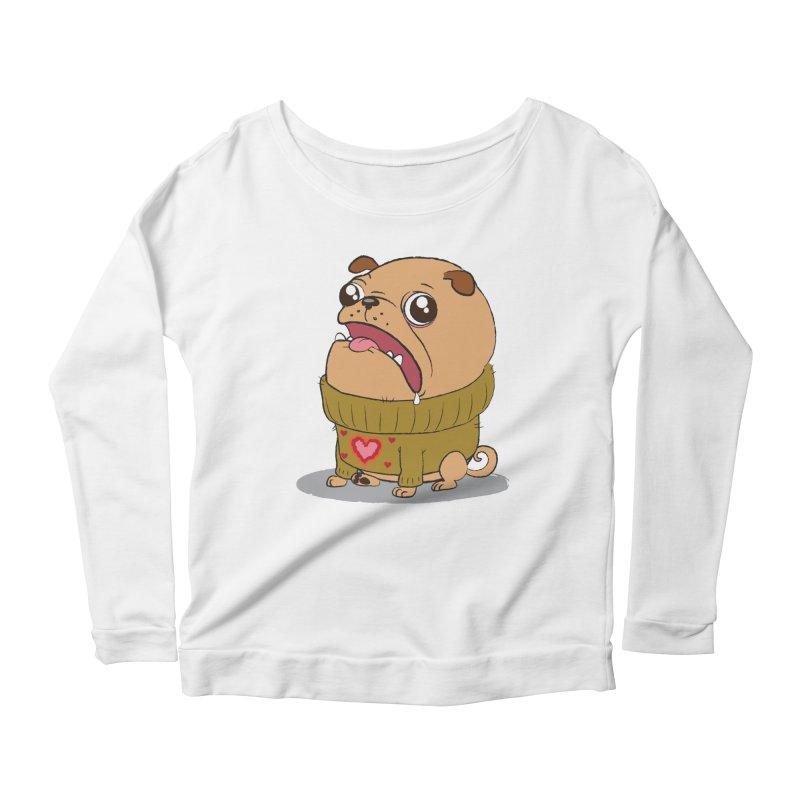 Pugly Sweater Women's Longsleeve Scoopneck  by SJdzyn's Artist Shop