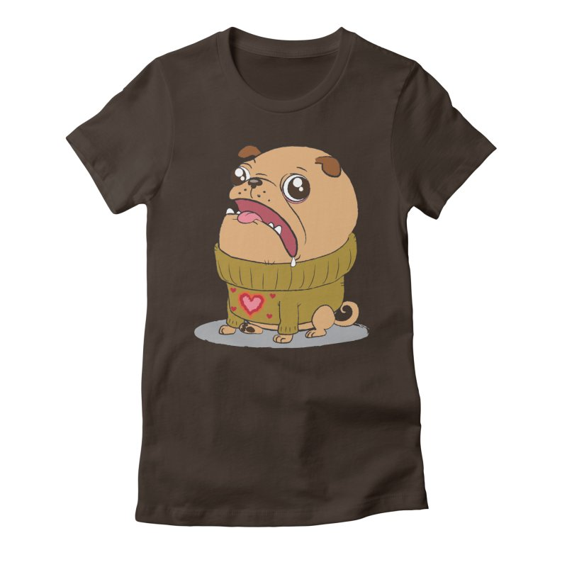 Pugly Sweater Women's Fitted T-Shirt by SJdzyn's Artist Shop