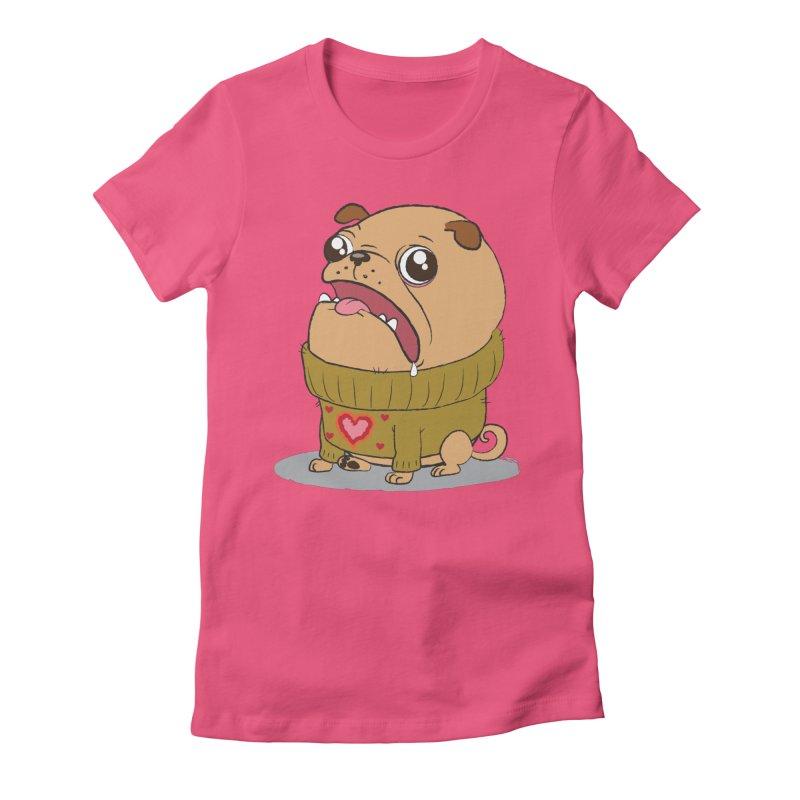 Pugly Sweater Women's Fitted T-Shirt by SJdzyn's Artist Shop