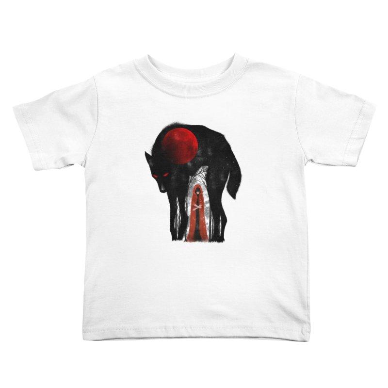 Red Moon Kids Toddler T-Shirt by skaryllska's Artist Shop