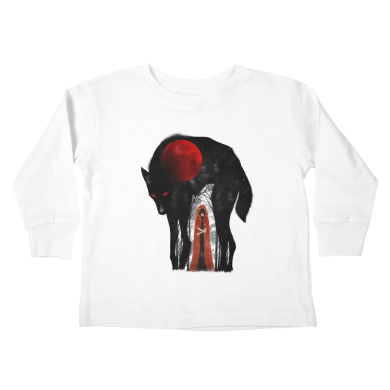 Red Moon Kids Toddler Longsleeve T-Shirt by skaryllska's Artist Shop