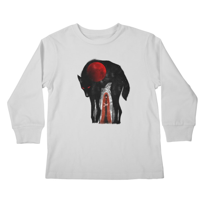 Red Moon Kids Longsleeve T-Shirt by skaryllska's Artist Shop