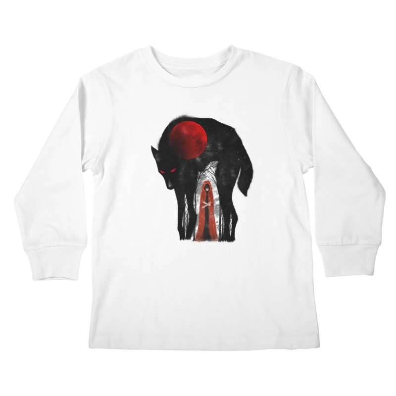 Red Moon Kids Longsleeve T-Shirt by skaryllska's Artist Shop