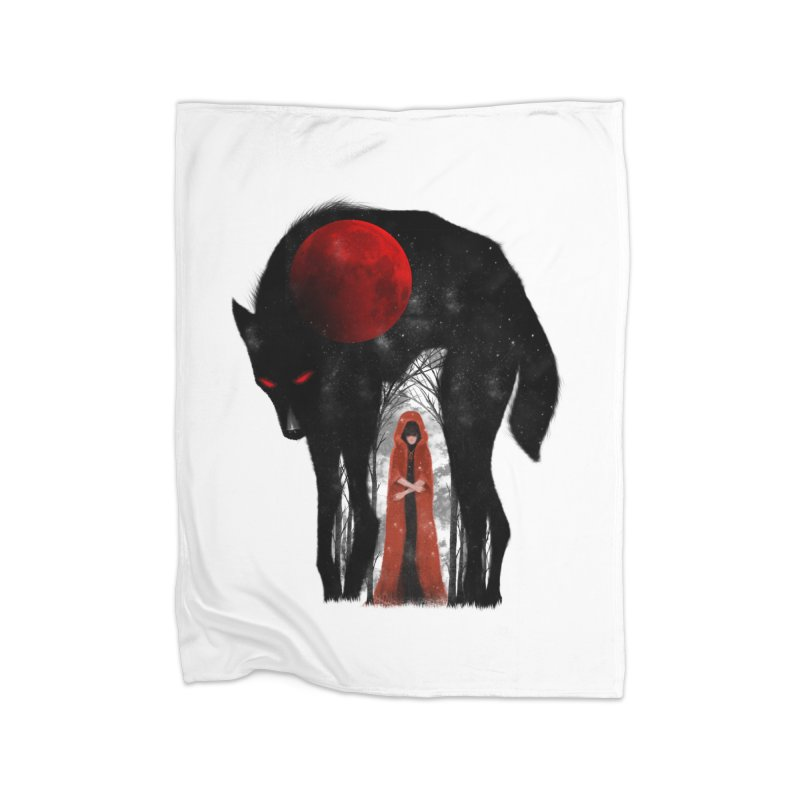 Red Moon Home Blanket by skaryllska's Artist Shop