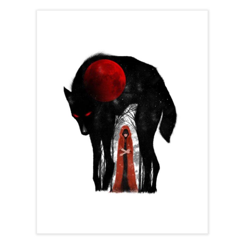 Red Moon Home Fine Art Print by skaryllska's Artist Shop