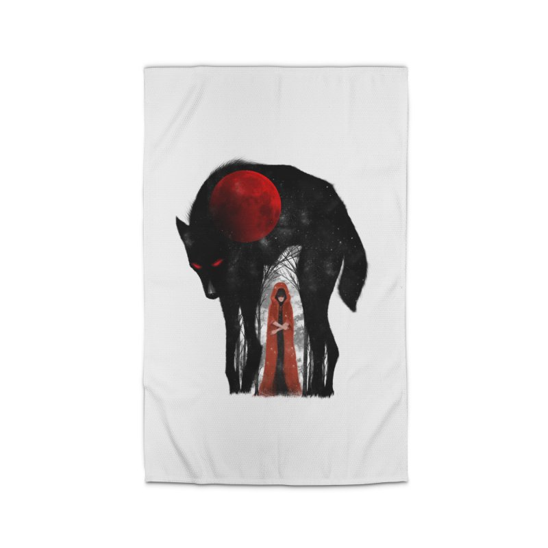 Red Moon Home Rug by skaryllska's Artist Shop