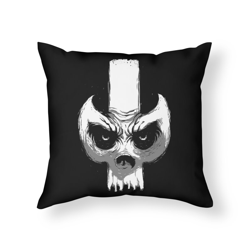 Bones Home Throw Pillow by skaryllska's Artist Shop