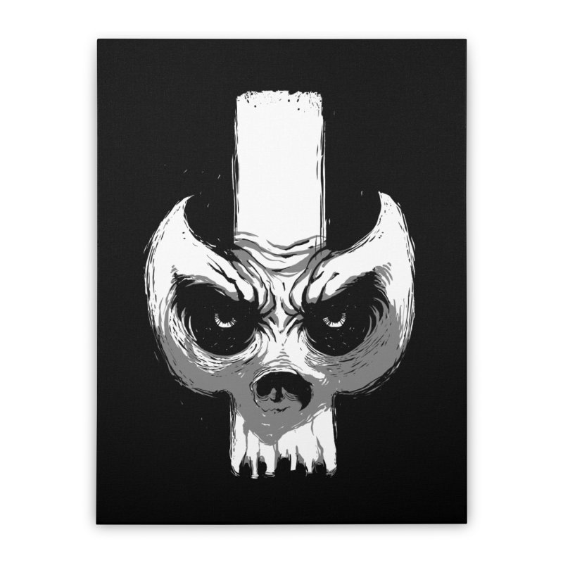 Bones Home Stretched Canvas by skaryllska's Artist Shop