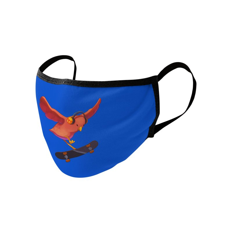 A Plain Skateboardin' Birb Accessories Face Mask by SkateBIRD Merchandise