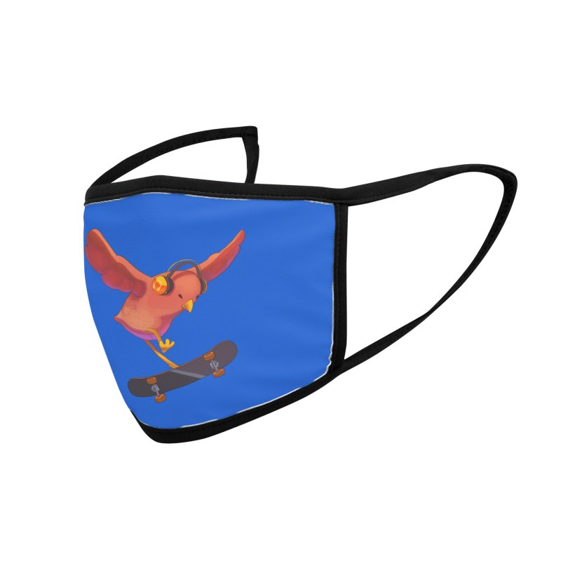 A Plain Skateboardin' Birb Accessories Face Mask by SkateBIRD Merchandise