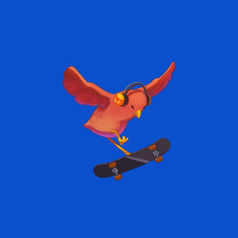 A Plain Skateboardin' Birb Accessories Sticker by SkateBIRD Merchandise