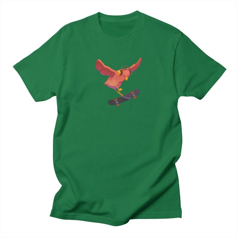 A Plain Skateboardin' Birb Men's T-Shirt by SkateBIRD Merchandise
