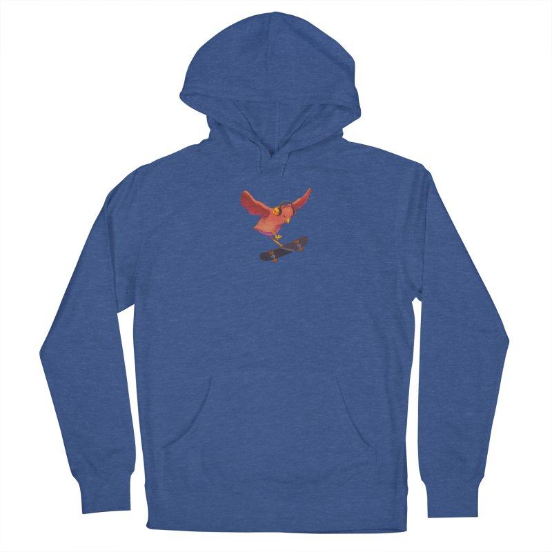 A Plain Skateboardin' Birb Men's Pullover Hoody by SkateBIRD Merchandise