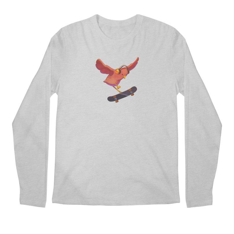A Plain Skateboardin' Birb Men's Longsleeve T-Shirt by SkateBIRD Merchandise