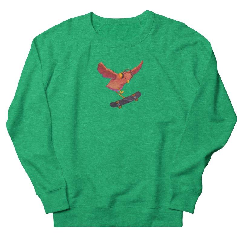 A Plain Skateboardin' Birb Women's Sweatshirt by SkateBIRD Merchandise