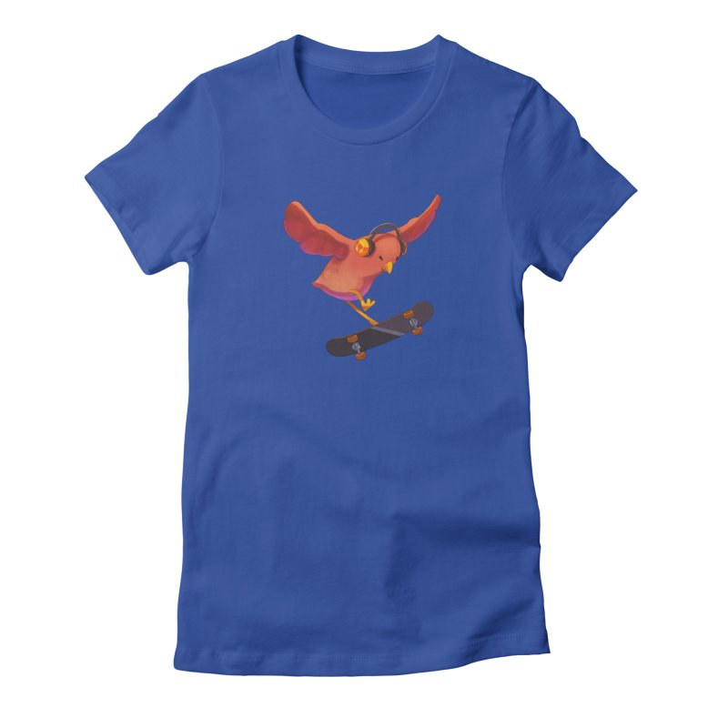 A Plain Skateboardin' Birb Women's T-Shirt by SkateBIRD Merchandise