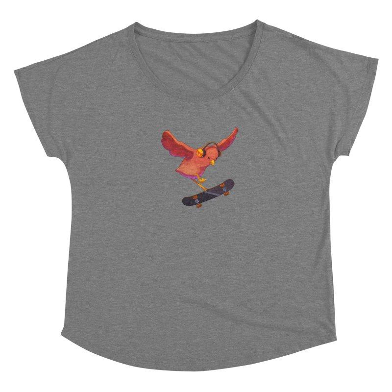 A Plain Skateboardin' Birb Women's Scoop Neck by SkateBIRD Merchandise
