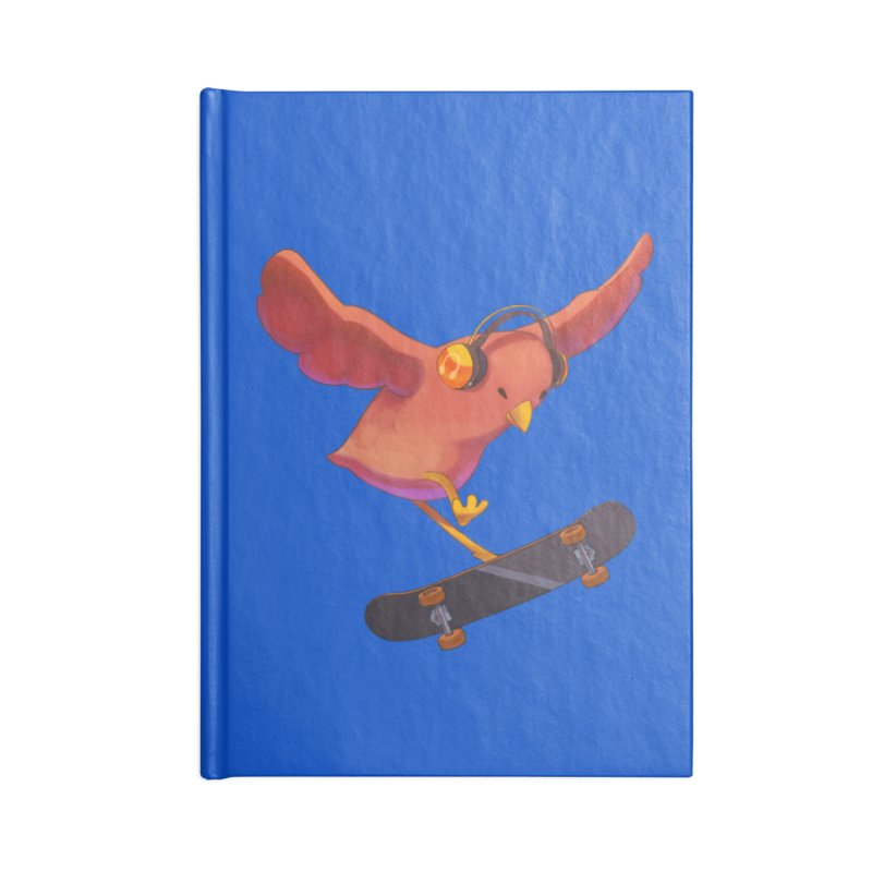 A Plain Skateboardin' Birb Accessories Notebook by SkateBIRD Merchandise