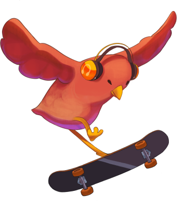 SkateBIRD Merchandise Logo