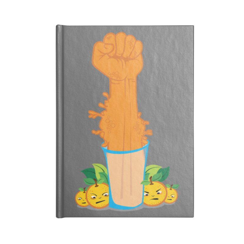 STRONG ORANGE JUICE  Accessories Notebook by skatee1's Artist Shop