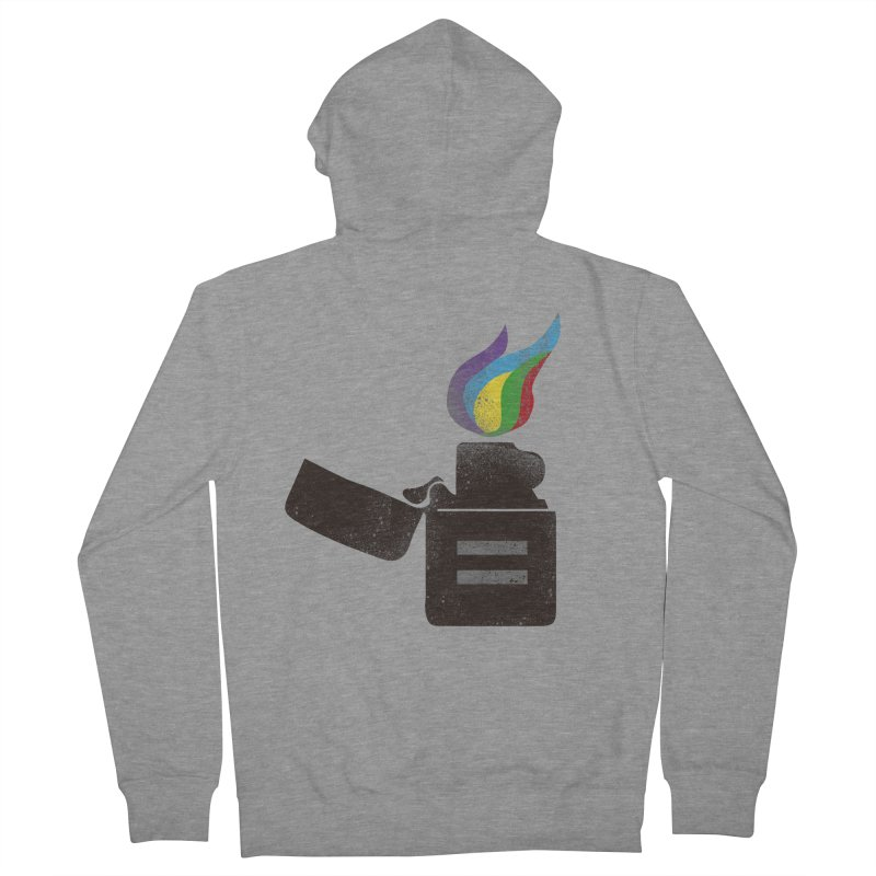 THE FLAME OF EQUALITY Women's Zip-Up Hoody by skatee1's Artist Shop