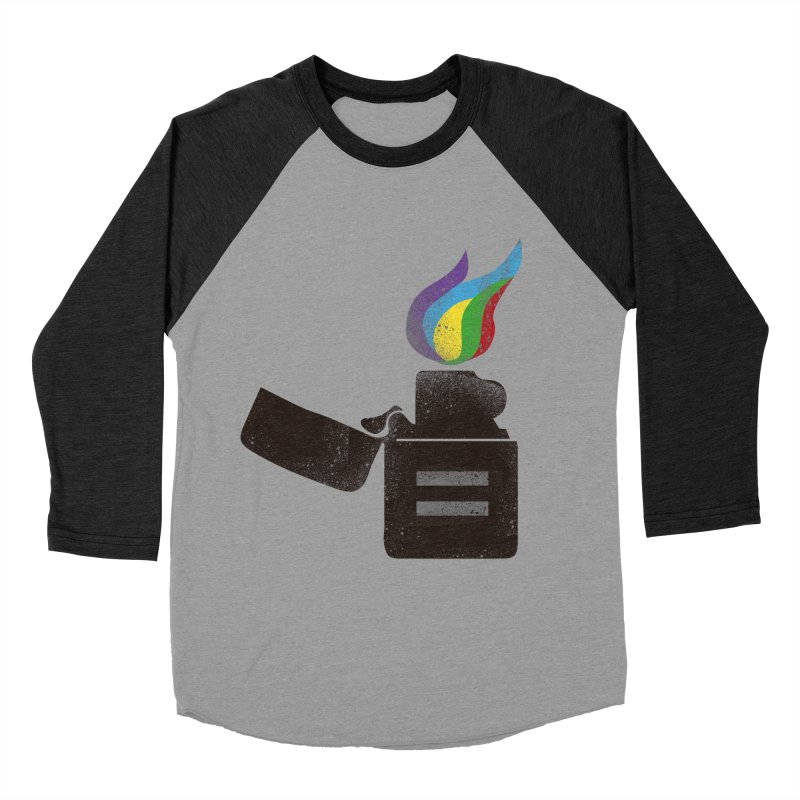 THE FLAME OF EQUALITY Women's Baseball Triblend T-Shirt by skatee1's Artist Shop