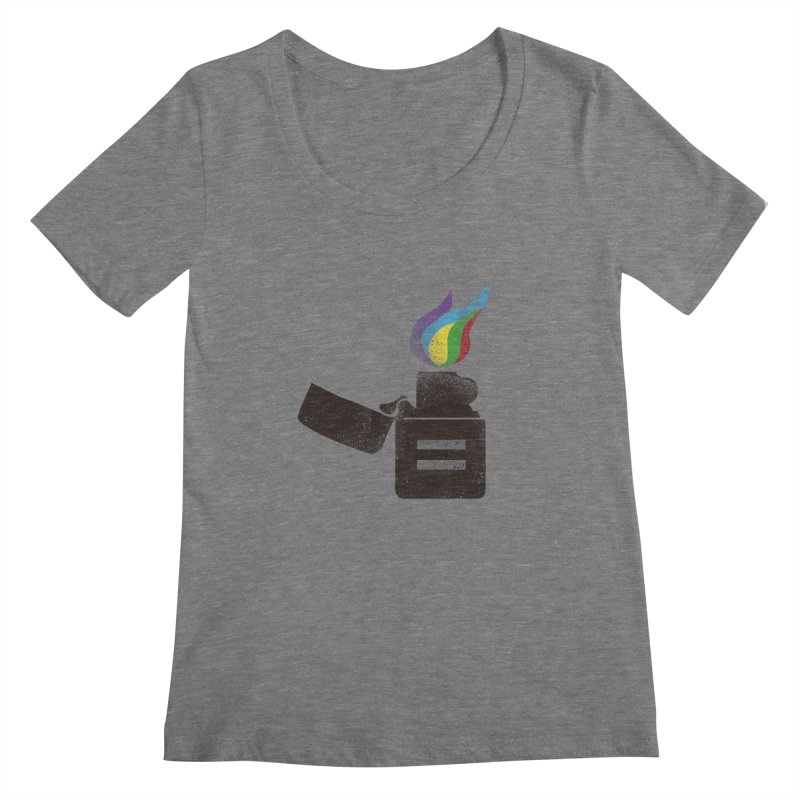 THE FLAME OF EQUALITY Women's Scoopneck by skatee1's Artist Shop