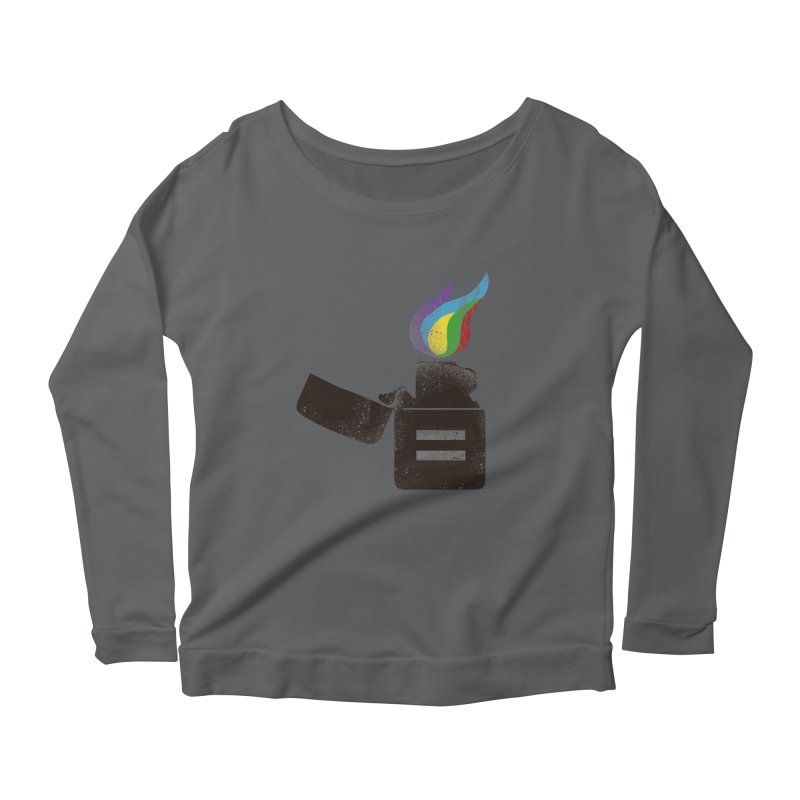 THE FLAME OF EQUALITY Women's Longsleeve Scoopneck  by skatee1's Artist Shop