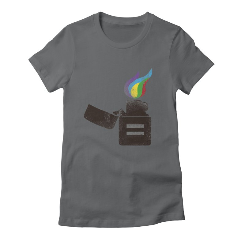 THE FLAME OF EQUALITY Women's Fitted T-Shirt by skatee1's Artist Shop