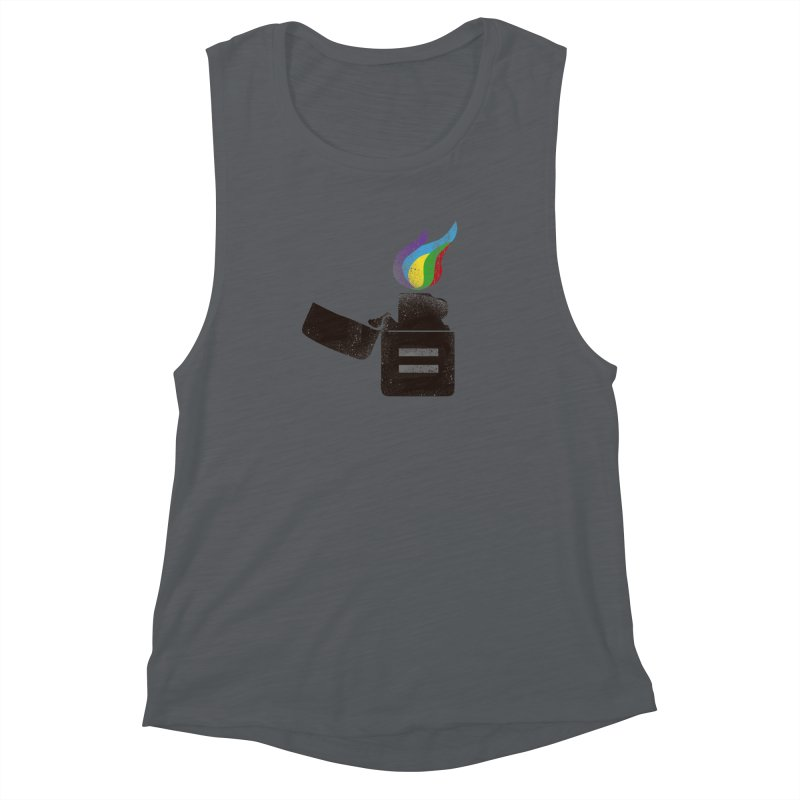 THE FLAME OF EQUALITY Women's Muscle Tank by skatee1's Artist Shop