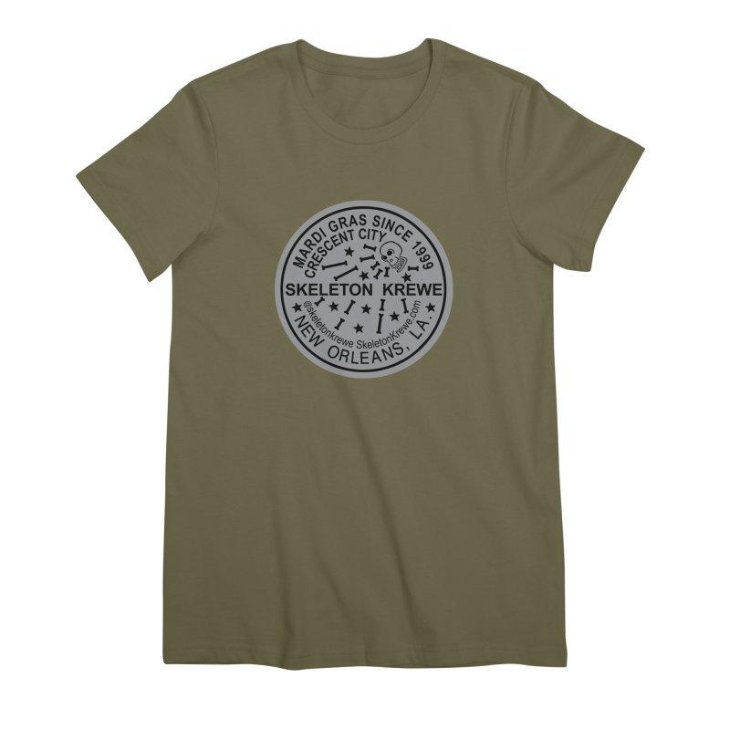 Skeleton Krewe Water Meter Cover Women's Premium T-Shirt by Skeleton Krewe's Shop