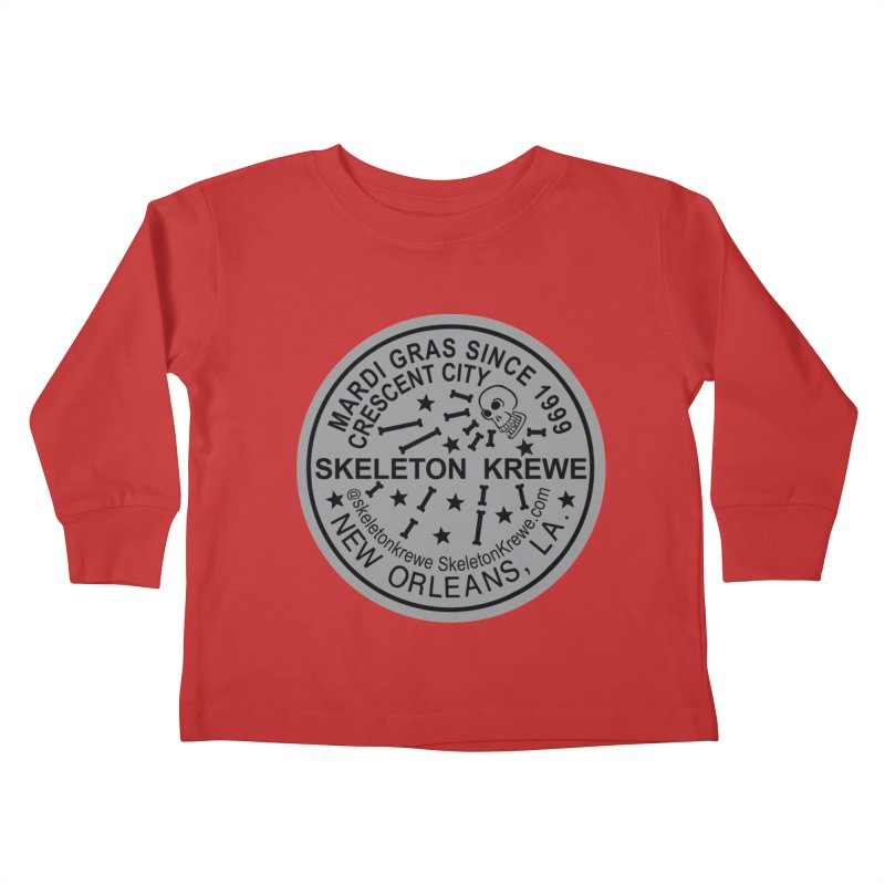 Skeleton Krewe Water Meter Cover Kids Toddler Longsleeve T-Shirt by Skeleton Krewe's Shop