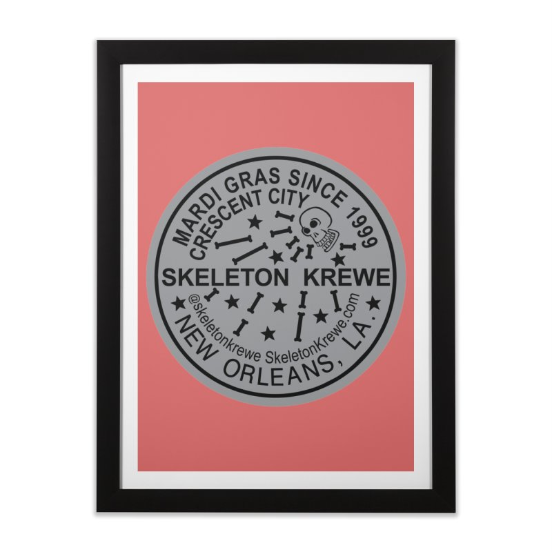 Skeleton Krewe Water Meter Cover Home Framed Fine Art Print by Skeleton Krewe's Shop
