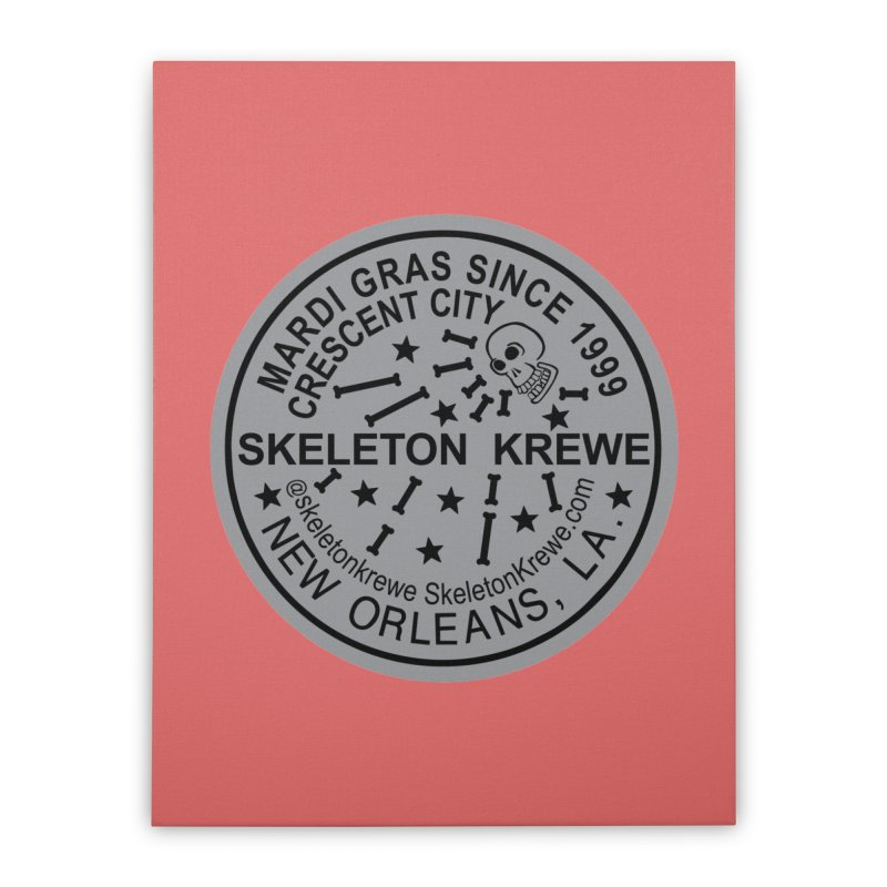 Skeleton Krewe Water Meter Cover Home Stretched Canvas by Skeleton Krewe's Shop