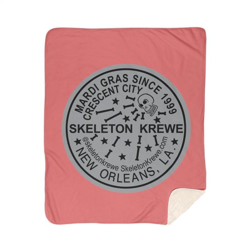 Skeleton Krewe Water Meter Cover Home Sherpa Blanket Blanket by Skeleton Krewe's Shop