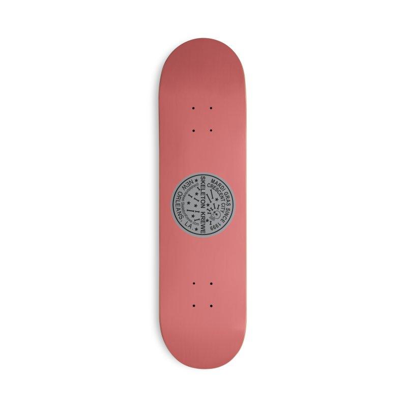 Skeleton Krewe Water Meter Cover Accessories Deck Only Skateboard by Skeleton Krewe's Shop