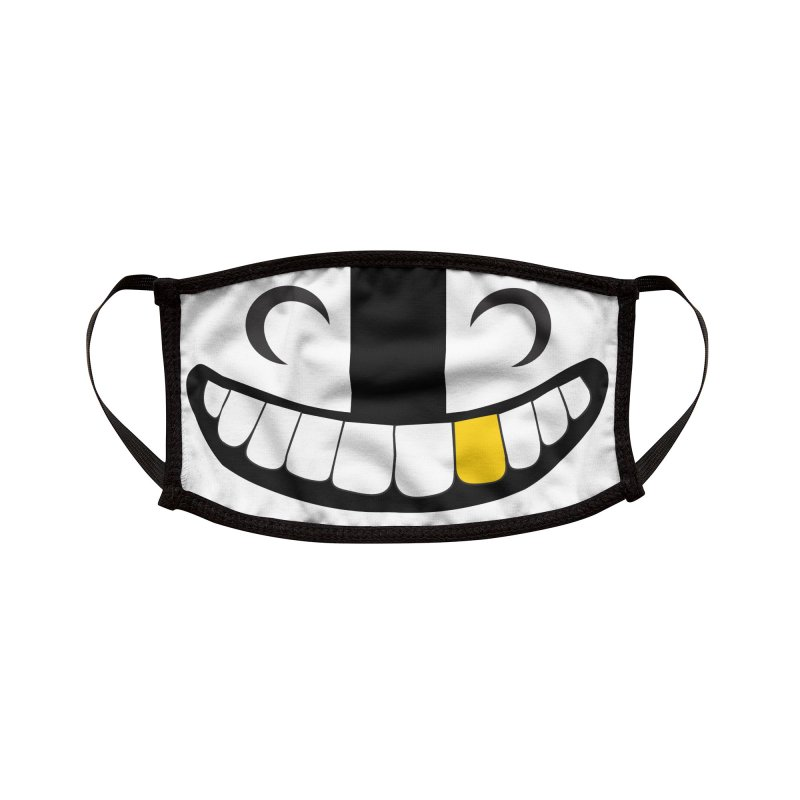 Skelly grin with gold tooth face mask Accessories Face Mask by Skeleton Krewe's Shop