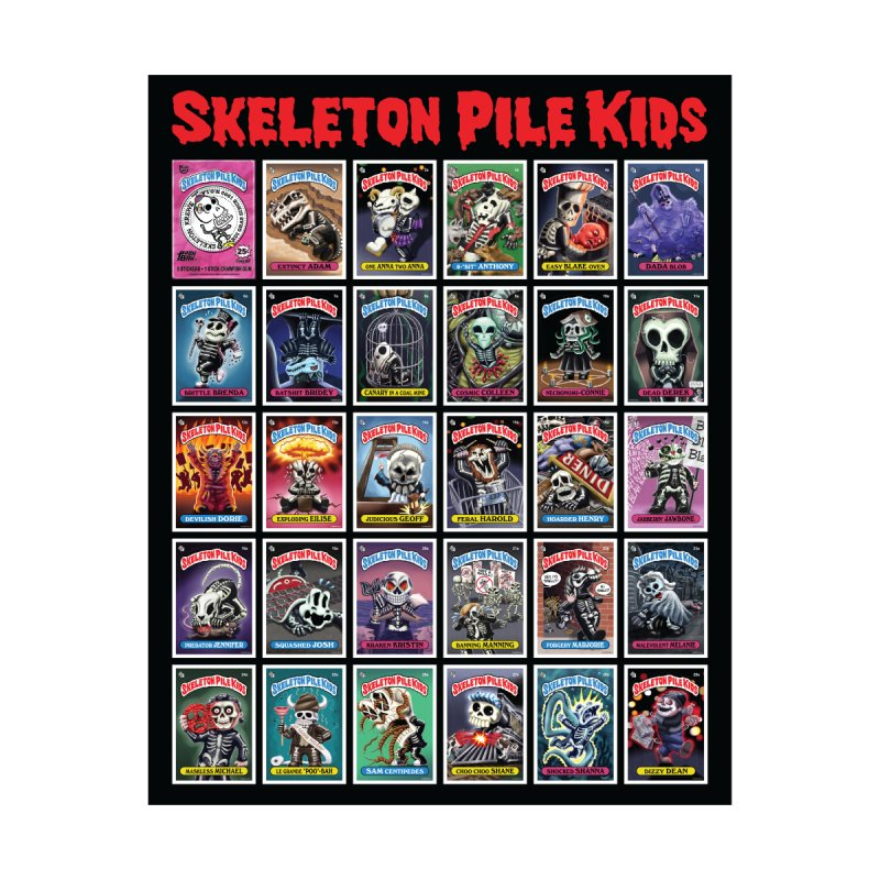 Skeleton Pile Kids Men's T-Shirt by Skeleton Krewe's Shop
