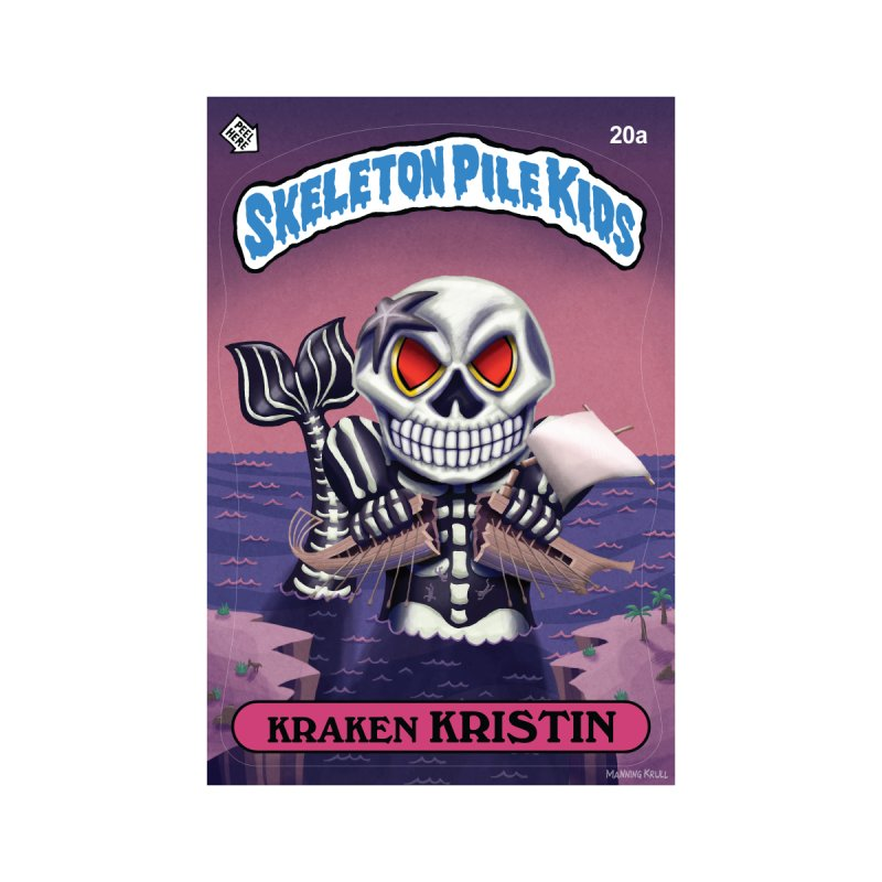 Skeleton Pile Kids - KRAKEN KRISTIN Kids T-Shirt by Skeleton Krewe's Shop