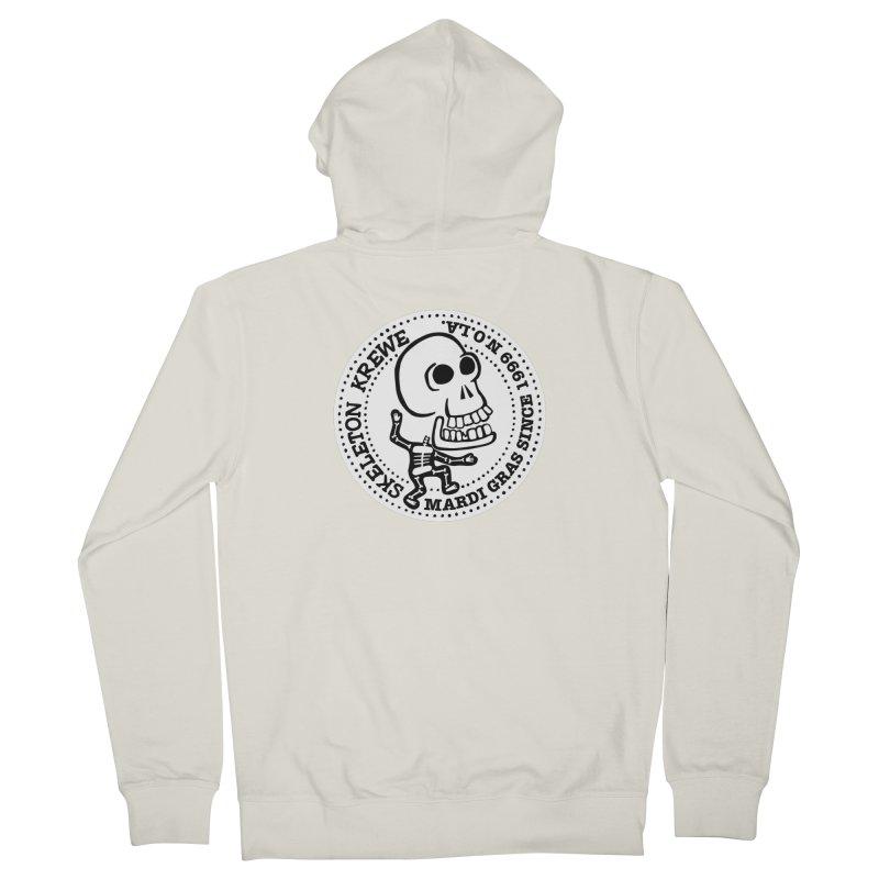 Skeleton Krewe Large Logo Men's French Terry Zip-Up Hoody by Skeleton Krewe's Shop