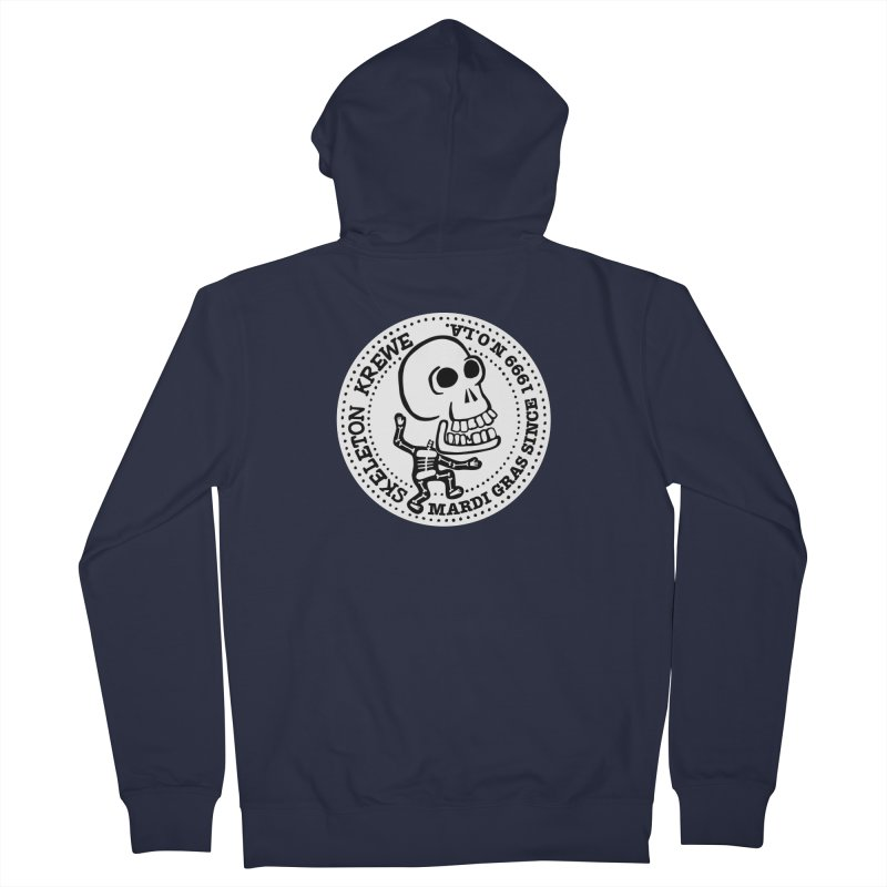 Skeleton Krewe Large Logo Men's French Terry Zip-Up Hoody by Skeleton Krewe's Shop