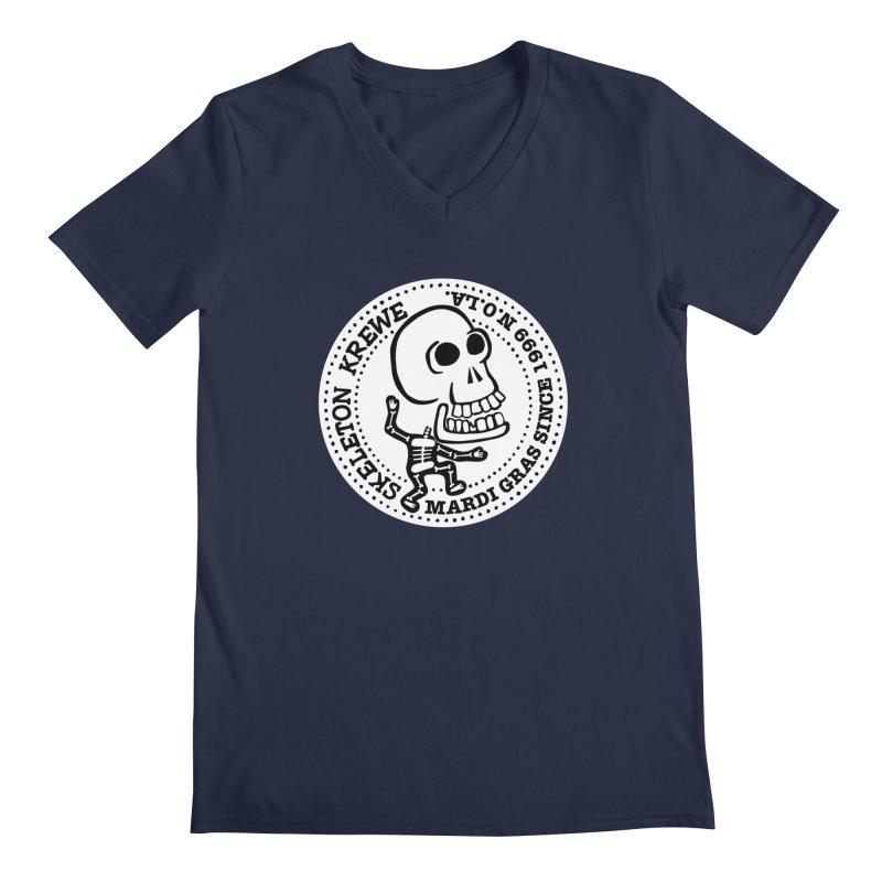 Skeleton Krewe Large Logo Men's V-Neck by Skeleton Krewe's Shop