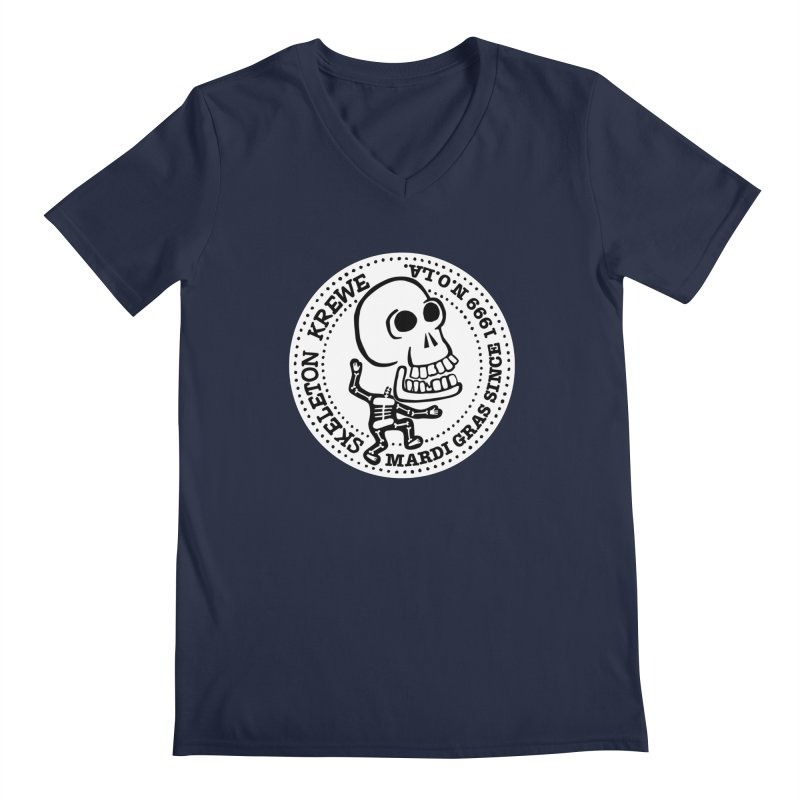 Skeleton Krewe Large Logo Men's Regular V-Neck by Skeleton Krewe's Shop