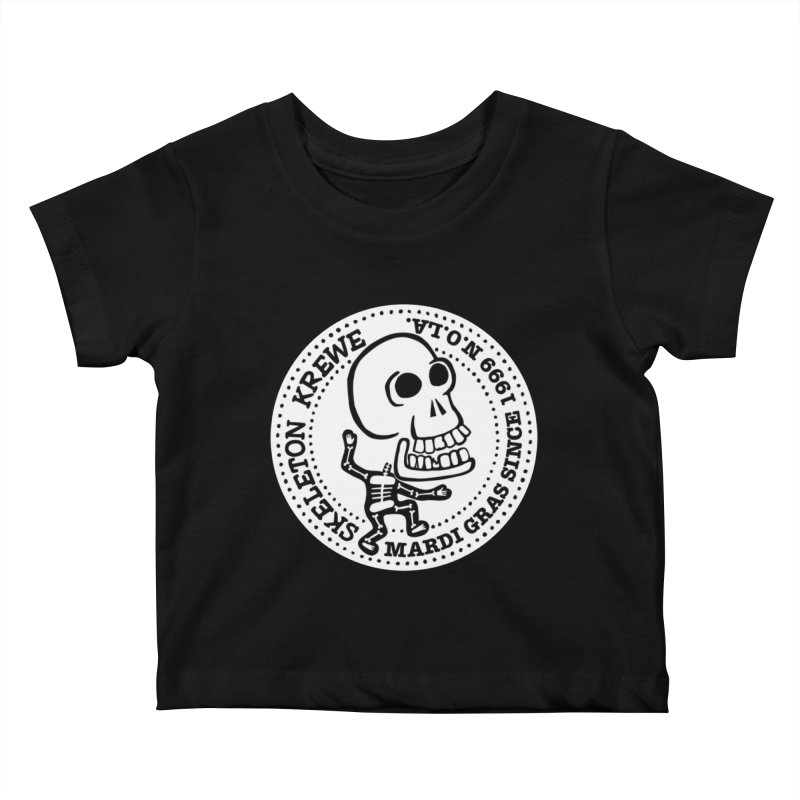 Skeleton Krewe Large Logo Kids Baby T-Shirt by Skeleton Krewe's Shop
