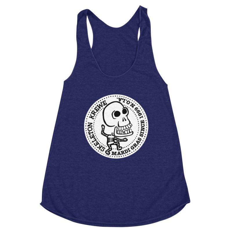 Skeleton Krewe Large Logo Women's Racerback Triblend Tank by Skeleton Krewe's Shop