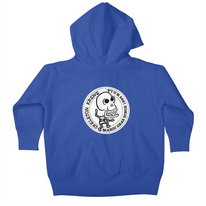 Skeleton Krewe Large Logo Kids Baby Zip-Up Hoody by Skeleton Krewe's Shop
