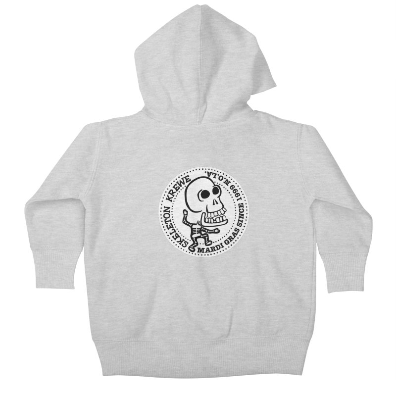 Skeleton Krewe Large Logo Kids Baby Zip-Up Hoody by Skeleton Krewe's Shop