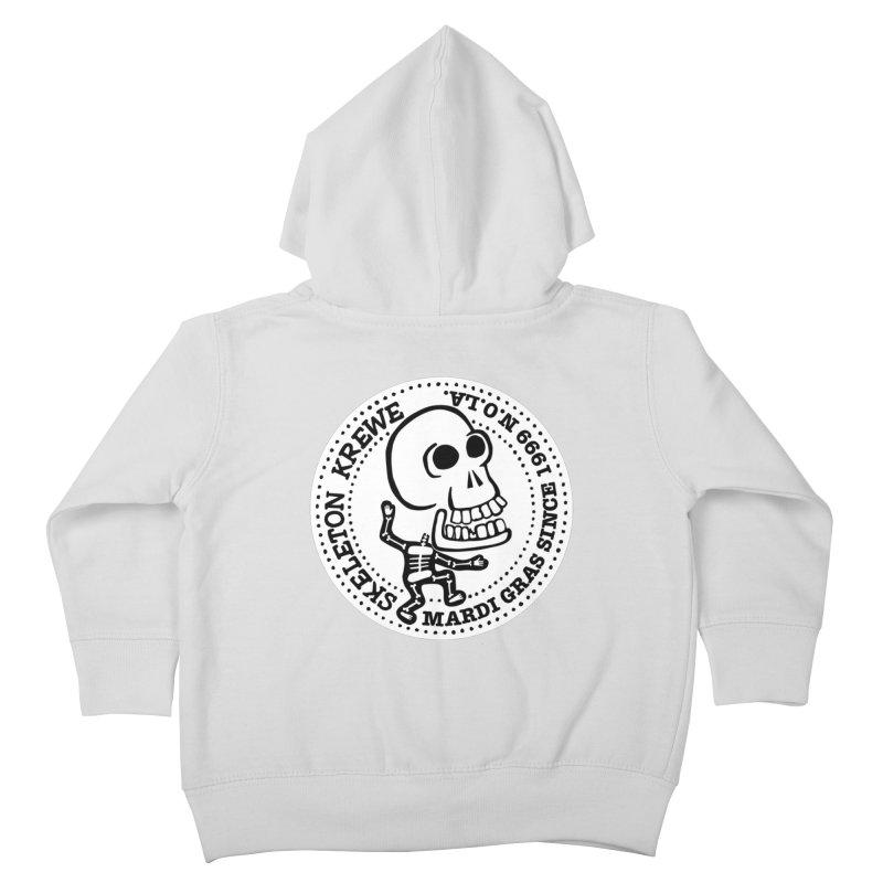 Skeleton Krewe Large Logo Kids Toddler Zip-Up Hoody by Skeleton Krewe's Shop